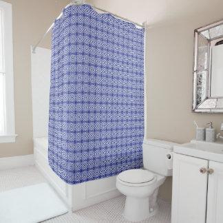 Blue Geometric Pattern Shower Curtain