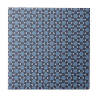 Blue Geometric Tiled Tessellation Pattern Tile