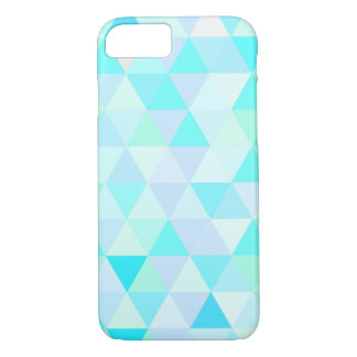 Blue Geometric Triangles barely there iPhone 8/7 Case