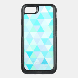 Blue Geometric Triangles OtterBox Commuter iPhone 8/7 Case