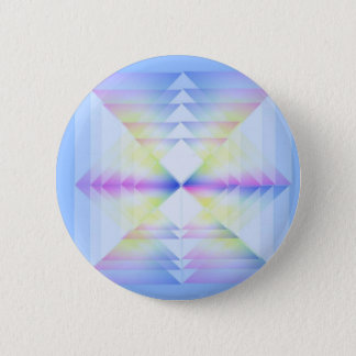 Blue Geometrical Pattern 6 Cm Round Badge