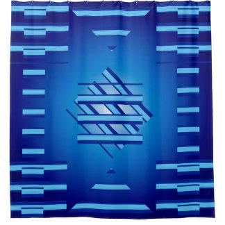 Blue Geometrics Shower Curtain