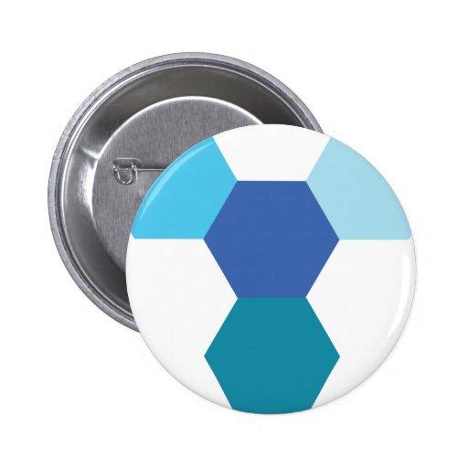 Blue Geometry 6 Cm Round Badge