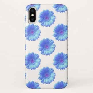 Blue gerbera daisy iPhone x case