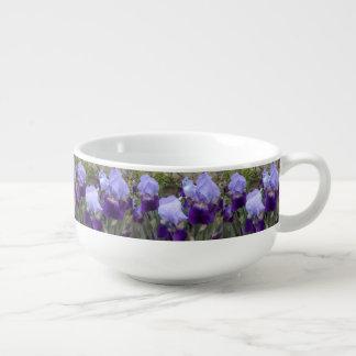Blue German Irises Soup Mug