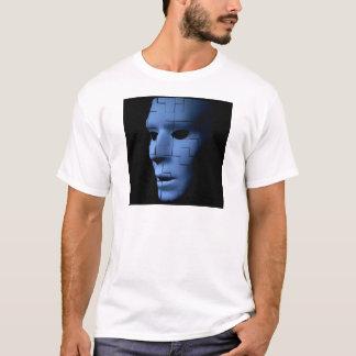 Blue Ghostly Alien Like Tile Face.jpg T-Shirt