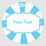 Blue Giant lollipop candy Buffet label Round Stickers