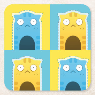 Blue Ginger Cat Coasters