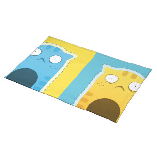 """Blue Ginger Cat Placemats  20"""" x 14"""""""