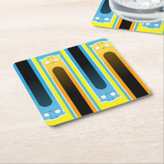 Blue Ginger Cats striped coasters
