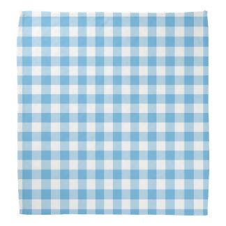 Blue Gingham Bandana