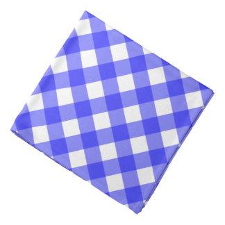 Blue Gingham Bandana