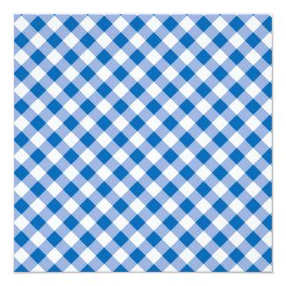 Blue Gingham Card