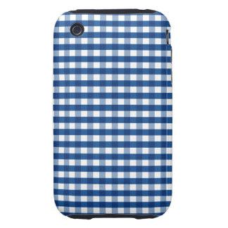 Blue Gingham iPhone 3 Tough Case