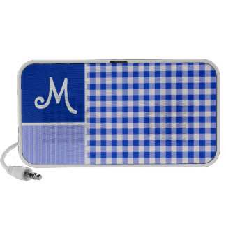 Blue Gingham Checkered Notebook Speakers