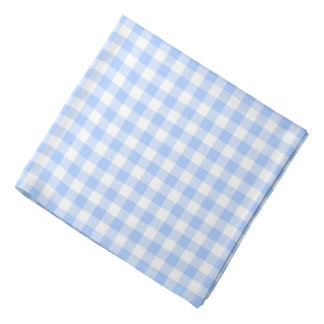 Blue Gingham Checks Pattern Bandana