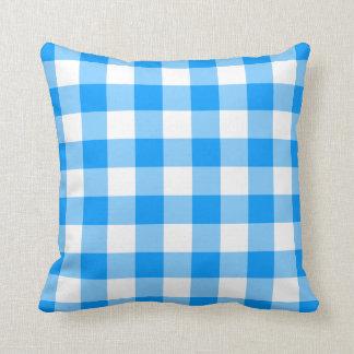 Blue Gingham Cushion