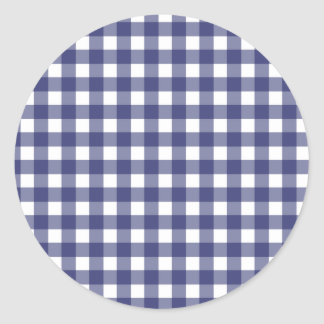 Blue Gingham Envelope Seal