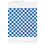 Blue Gingham Greeting Cards
