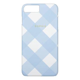 Blue Gingham iPhone 7 Plus Case