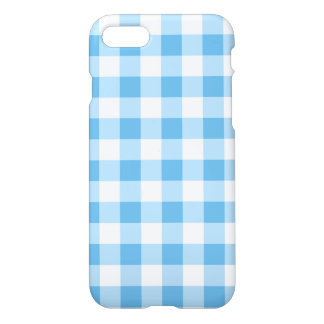 Blue Gingham iPhone 8/7 Case