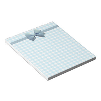 Blue Gingham Notepad