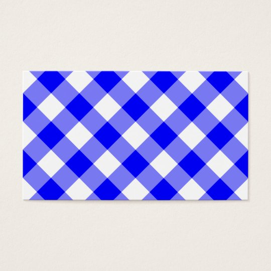 Blue Gingham Pattern Business Card