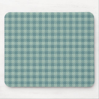 Blue Gingham Print Mouse Mat