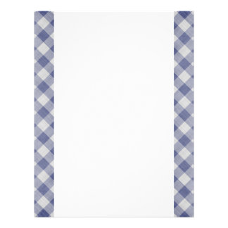 Blue Gingham Two-Sided Paper 21.5 Cm X 28 Cm Flyer