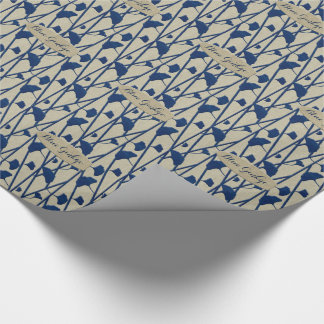 blue ginkgo wrapping paper