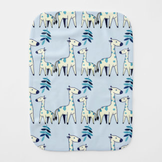 Blue Giraffe Burp Cloth