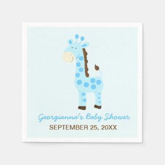 Blue Giraffe Customized Baby Shower Napkin Disposable Napkin
