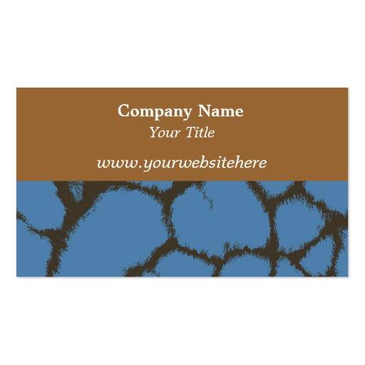 Blue Giraffe Fur Pattern Business Card