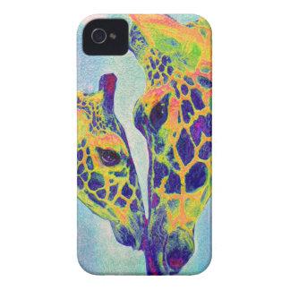 blue giraffe  i-phone iPhone 4 Case-Mate case