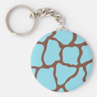Blue Giraffe Keychain