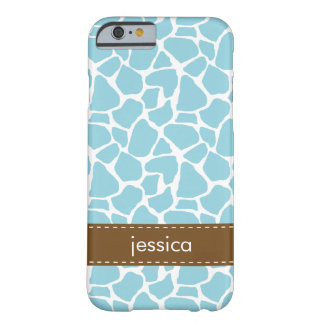 Blue Giraffe Pattern Barely There iPhone 6 Case