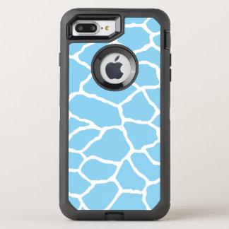 Blue Giraffe Print OtterBox iPhone 7 Plus Case