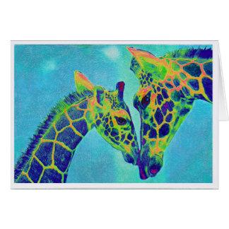 blue giraffes card