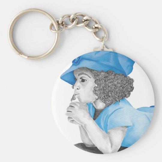 Blue Girl 1 Keychain