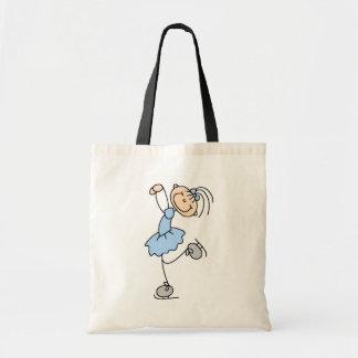 Blue Girl Figure Skater T-shirts and Gifts Canvas Bags