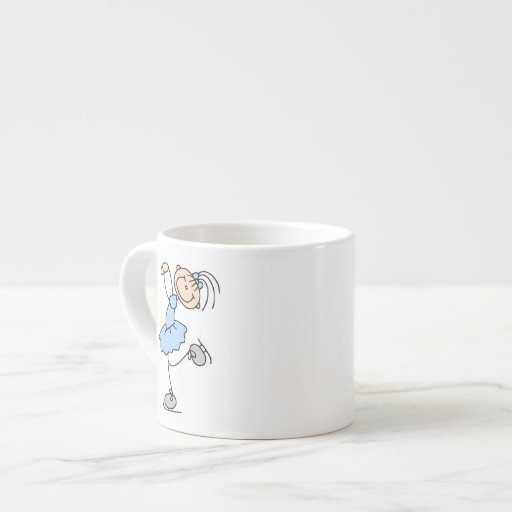 Blue Girl Figure Skater T-shirts and Gifts Espresso Mugs