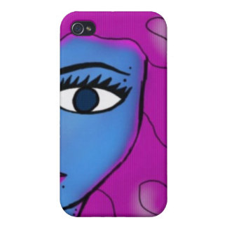 blue girl iPhone 4 cover