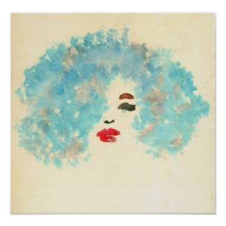 Blue Girl Print