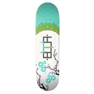Blue Girly Booya Skateboard Deck Skateboard
