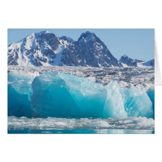 Blue glaceir ice, Norway Card