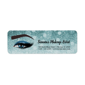 Blue glam lashes eyes | makeup artist