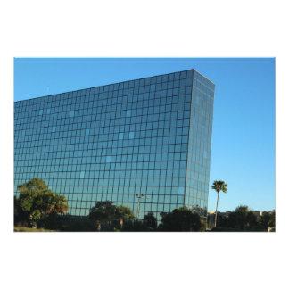 Blue glass building photo print
