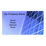 Blue Glass Facade Architectural Design Business Card Templates