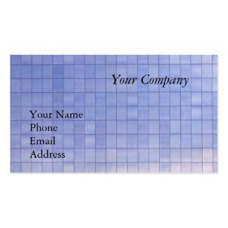 Blue Glass Facade of a Modern Office Complex Business Cards