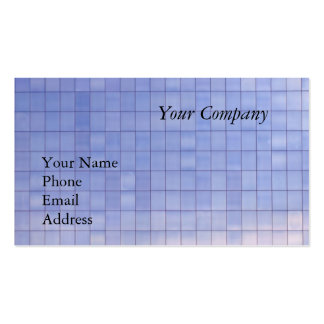 Blue Glass Facade of a Modern Office Complex Pack Of Standard Business Cards